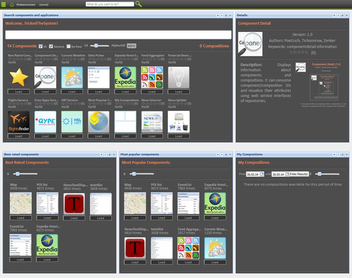 Einstiegsbildschirm der aktuellen Plattform